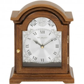 Broken Arch Wooden Mantel Clock 24cm