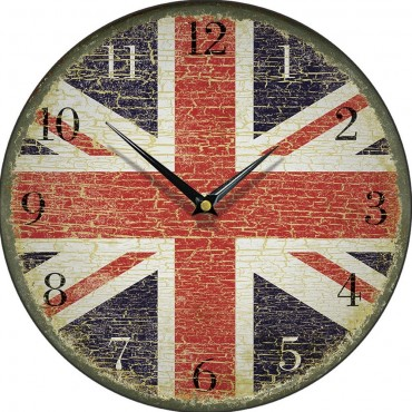 Faded Glory Union Jack Wall Clock 28.5cm