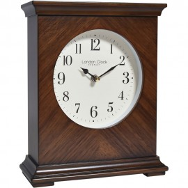 Flat Top Wooden Mantel Clock