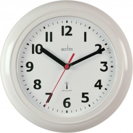 Parona White Radio Controlled Wall Clock 23cm
