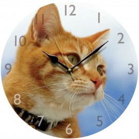 Ginger Cat Wall Clock 28.5cm