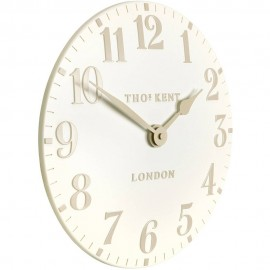 Arabic White Linen Wall Clock 30cm