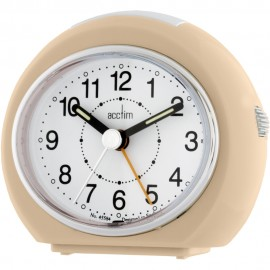Easi-Set Push Lens Rose Gold Alarm Clock 9.5cm