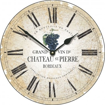 Large Chateau St Pierre Wall Clock 45cm