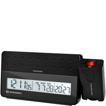 Bresser Radio Controlled Projection Alarm clock with USB Port