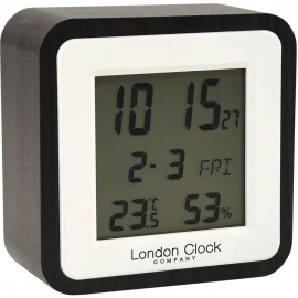 Dark Wood Alarm Clock 9cm