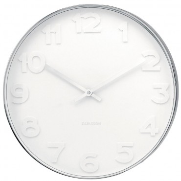 Mr White Numbers Wall Clock 37.5cm