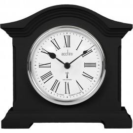 Chestfield Black Radio Controlled Mantel Clock 18cm