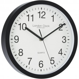 Simple Black Sweeping Wall Clock 25.5cm