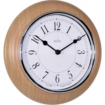 Richmond wooden wall clock 29cm newton light wood wall clock 205cm aloadofball Choice Image