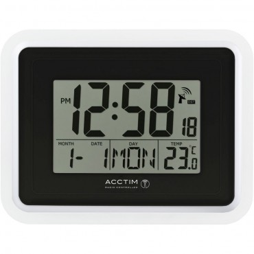 Delta Radio Controlled Digital Wall Clock 22cm