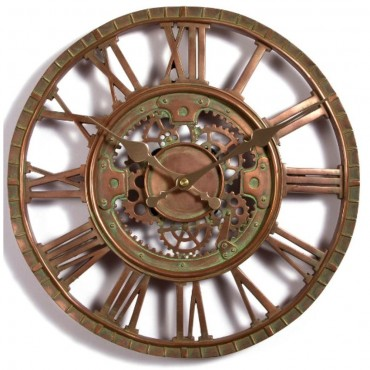 Newby Bronze Mechanical Outdoor Wall Clock 30cm