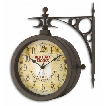 Nostalgia Thermometer & Outdoor Wall Clock 29.5cm
