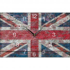 Shabby Chic Union Jack Wall Clock 35.5cm