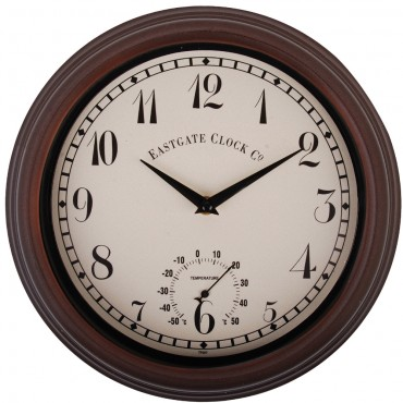 Eastgate Thermometer & Outdoor Wall Clock 31cm