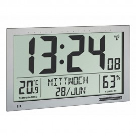 TFA Xl Radio Controlled Wall Clock With Temperature & Humidity 36.8cm