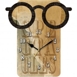 Spectacles Wall Clock 35.5cm