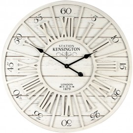 Cut out Effect Whitewash Wall Clock 70cm