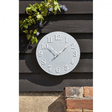 Westminster Duck Egg Outdoor Wall Clock 30cm