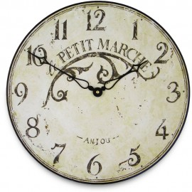 French Market Town Wall Clock 36cm