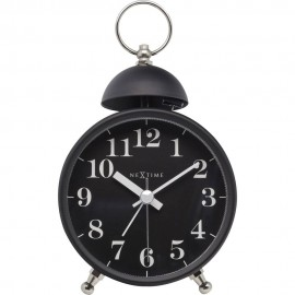 Single Bell Black Alarm Clock 16cm