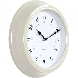Fifties Ivory Wall Clock 30cm