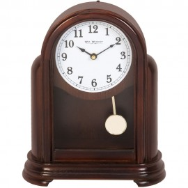 Wooden Arched Mantel Clock 30cm