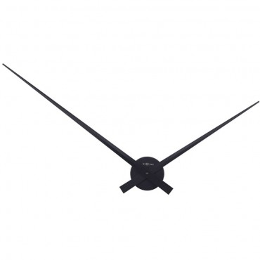 Plain Hands Black Wall Clock 85cm