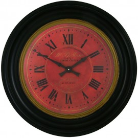 Covent Garden Red Wall Clock 50cm