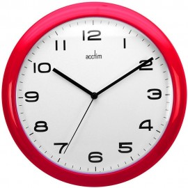 Aylesbury Red Wall Clock 25.5cm