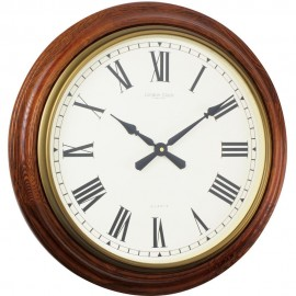 Traditional Oak Wall Clock 55cm