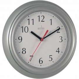 Wycombe Silver Wall Clock 22.5cm