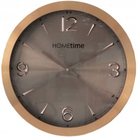 Aluminium Wall Clock Copper/Shimmer Finish 30cm
