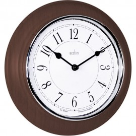 Newton Dark Wood Wall Clock 20.5cm