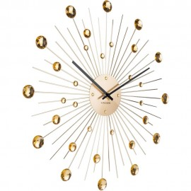 Sunburst Gold Wall Clock 50cm