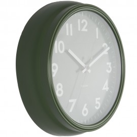 Badge Green Wall Clock 38cm