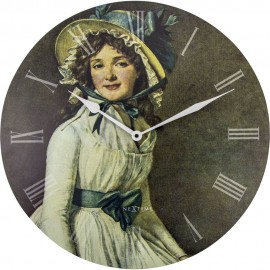 Portrait of Mrs Seriziat Wall Clock 50cm