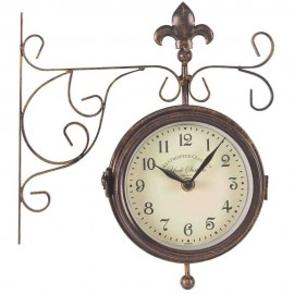 York Cream Station Outdoor Wall Clock with Thermometer 28.5cm