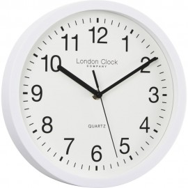 Simple White Sweeping Wall Clock 25.5cm