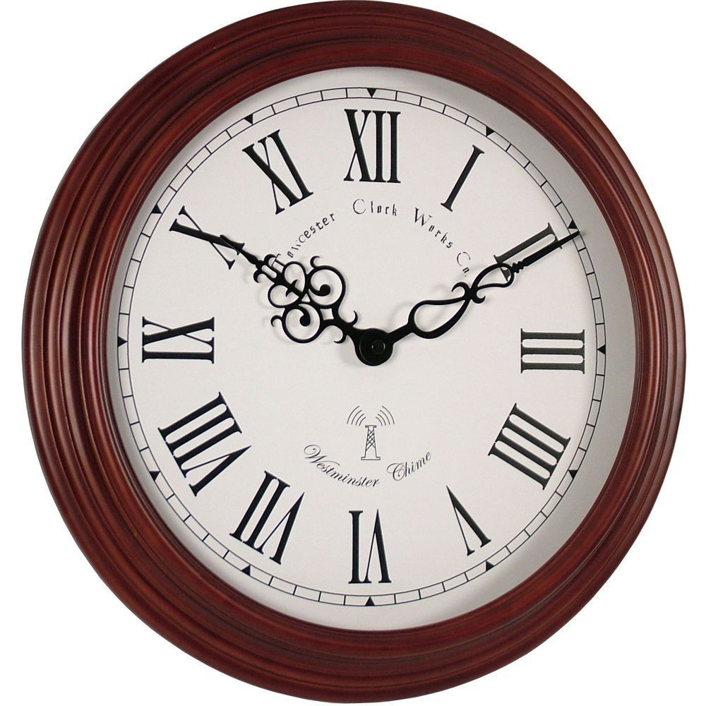 Westminster Chime Radio Controlled Wall Clock 39cm