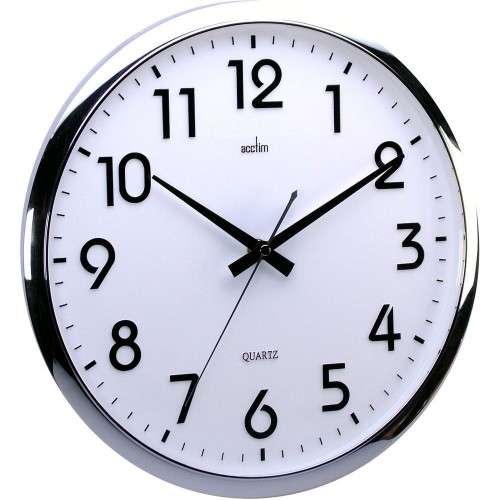 Orion Silent Sweeping White Wall Clock 32cm
