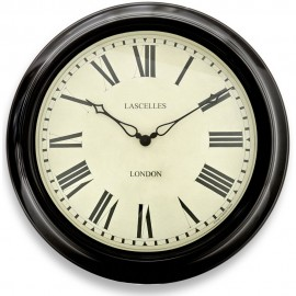 Black Station Wall Clock 45.5cm
