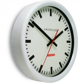 Swiss Station White Wall Clock 30cm