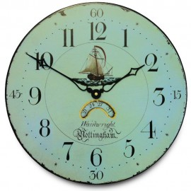 Nottingham Clockmaker With Decorative Dial Wall Clock 36cm