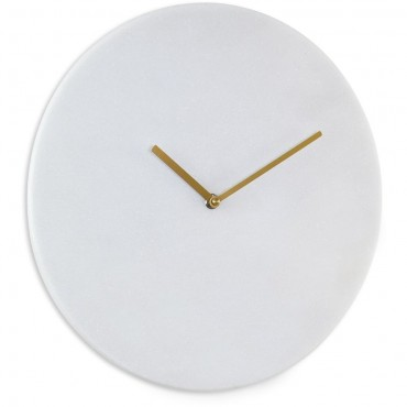 White Marble Wall Clock 35cm