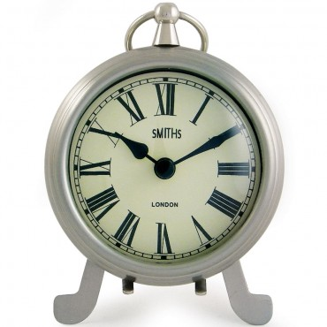 Fob Chrome Mantel Clock 15cm