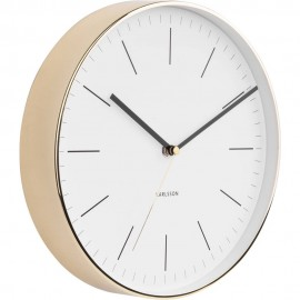 Minimal White Wall Clock 27.5cm