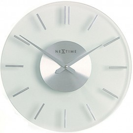 Stripe Glass Wall Clock 26cm