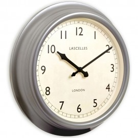 Pewter Wall Clock 45cm