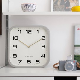 Square Grey Wall Clock 30cm